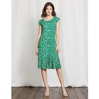 Avril Jersey Dress Greenhouse Shadow Floral Women Boden, Green