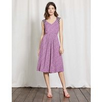 Gwendolyn Jersey Dress Wisteria Bloom Graphic Floral Women Boden, Purple