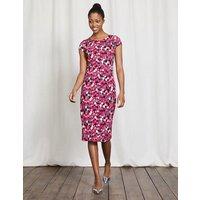 Bella Jersey Dress Wisteria Bloom Feathers Women Boden, Purple