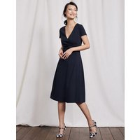Alicia Ponte Dress Navy Women Boden, Navy