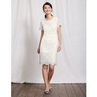 Isadora Broderie Dress Ivory Women Boden, Ivory