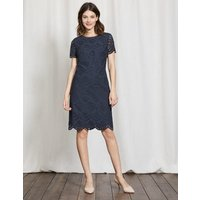 Isadora Broderie Dress Navy Women Boden, Navy