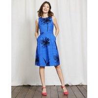 Evelyn Dress Meadow Spring Stencil Floral Women Boden, Blue