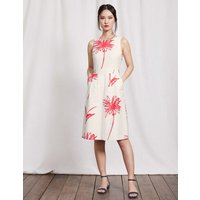 Evelyn Dress Ivory Stencil Floral Women Boden, Ivory