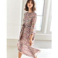 Grace Silk Midi Dress Multi Women Boden, Multi