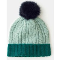Cable Knit Hat Navy Women Boden, Navy
