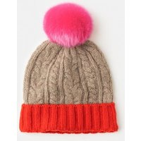 Cable Knit Hat Pink Women Boden, Pink
