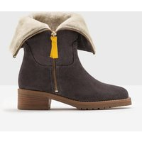 Fold-Over Sherpa Boots Grey Women Boden, Grey