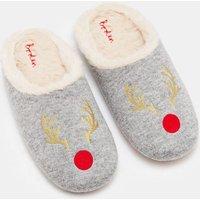 Knitted Slipper Mules Grey Women Boden, Grey