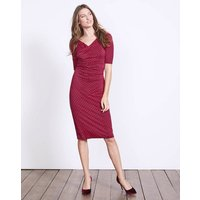 Rita Ruched Jersey Dress Purple Women Boden, Purple