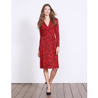 Wrap Jersey Dress Red Women Boden, Red