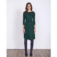 Veronica Jersey Dress Emerald Night Petal Geo Women Boden, Green