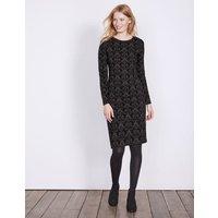 Guinevere Jacquard Dress Black Women Boden, Black