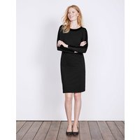 Ingrid Ponte Dress Black Women Boden, Black