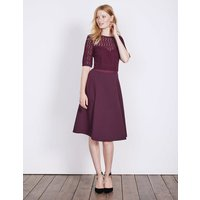 Lisa Ponte Dress Purple Women Boden, Purple