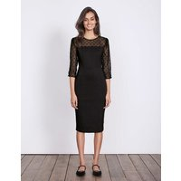 Boden Isabella Ponte Dress Black Women Boden, Black