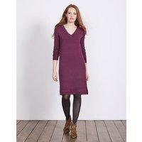 Riley Knitted Dress Purple Women Boden, Purple