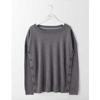 Grace Button Jumper Grey Women Boden, Grey