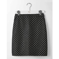 British Tweed Mini Skirt Black Women Boden, Black