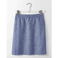British Tweed Mini Skirt Blue Women Boden, Blue