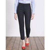 Mirabelle 7/8 Trousers Navy with Black Spot Women Boden, Navy