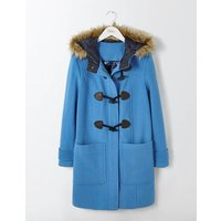 Boden Wool Duffle Coat Blue Women Boden, Blue