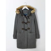 Boden Wool Duffle Coat Grey Women Boden, Grey