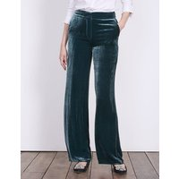 Boden Velvet Wide Leg Trousers Blue Women Boden, Blue