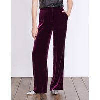 Boden Velvet Wide Leg Trousers Purple Women Boden, Purple