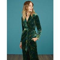 Roberta Velvet Jacket Green Women Boden, Green
