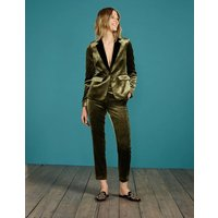 Vera Velvet Trousers Gold Women Boden, Gold