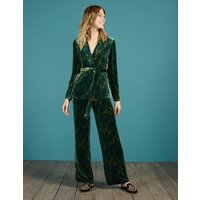 Roberta Velvet Trousers Green Women Boden, Green