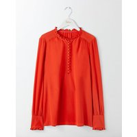 Ella Silk Blouse Red Pop Women Boden, Red