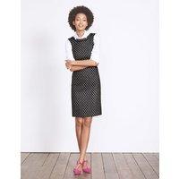 Deborah Tweed Dress Black Women Boden, Black