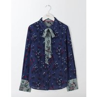 Sofia Silk Blouse Blue Women Boden, Blue