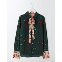 Sofia Silk Blouse Green Tulip Women Boden, Green