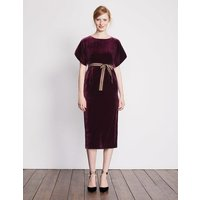 Robyn Velvet Dress Purple Women Boden, Purple