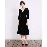 Farrah Velvet Dress Black Women Boden, Black