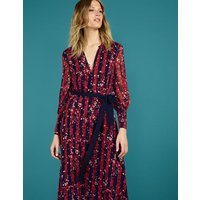 Primrose Midi Dress Red Women Boden, Navy