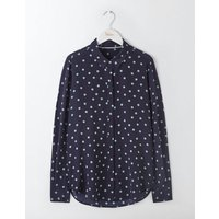 The Silk Shirt Blues Polka Dot Women Boden, Navy