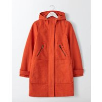 Boden Moleskin Duffle Coat Orange Women Boden, Orange