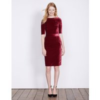 Velvet Martha Dress Purple Women Boden, Purple