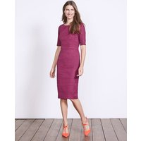 Fleur Fitted Dress Purple Women Boden, Purple