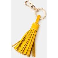 Leather Tassel Keyring Yellow Women Boden, Yellow