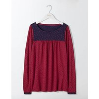 Chepstow Jersey Top Red Women Boden, Red