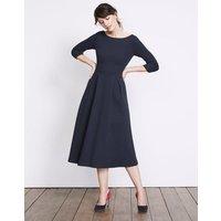 Holly Textured Dress Navy Women Boden, Navy