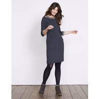 Justine Jacquard Dress Navy Women Boden, Navy