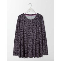 Libby Jersey Top Pewter Women Boden, Pewter