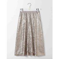 Drapey Sequin Skirt Silver Women Boden, Silver