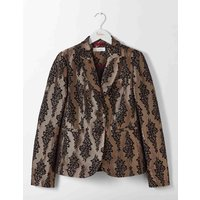 Boden Jacquard Party Blazer Gold Women Boden, Gold